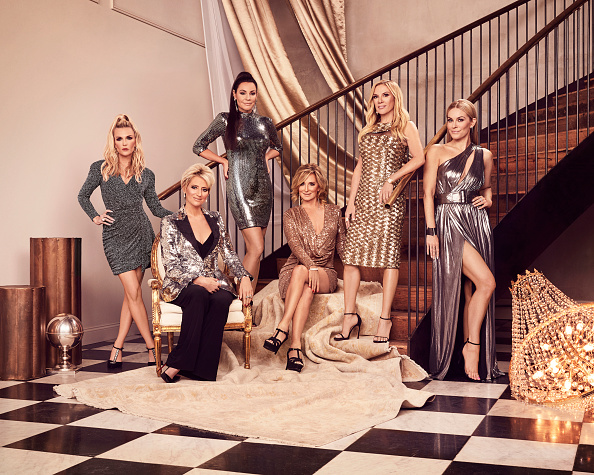 The Real Housewives of New York City Season 12 - Pictured: (l-r) Tinsley Mortimer, Dorinda Medley, Luann de Lesseps, Sonja Morgan, Ramona Singer, Leah McSweeney