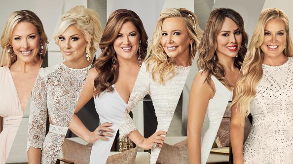The Real Housewives of Orange County Season 15 - Pictured: (l-r) Braunwyn Windham-Burke, Gina Kirschenheiter, Emily Simpson, Shannon Storms Beador, Kelly Dodd, Elizabeth Lyn Vargas