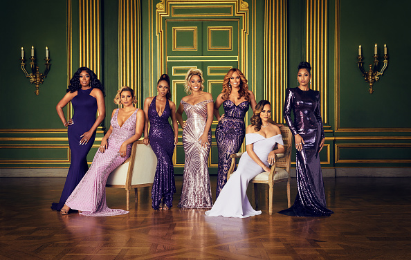 The Real Housewives of Potomac Season 5 - Pictured: (l-r) Wendy Osefo, Robyn Dixon, Candiace Dillard, Karen Huger, Gizelle Bryant, Ashley Darby, Monique Samuels