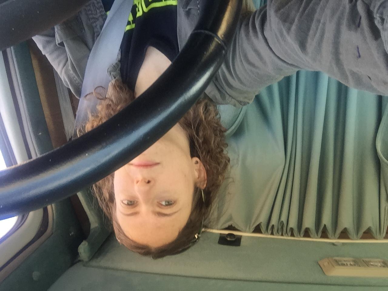 Jessica Bruder in her van