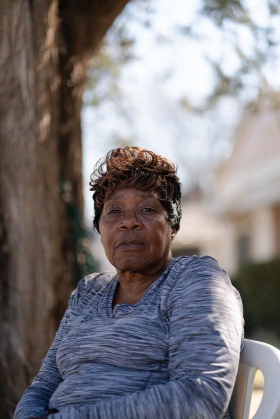Almeree Jones outside her home in Dallas' Ideal neighborhood on Feb. 24.