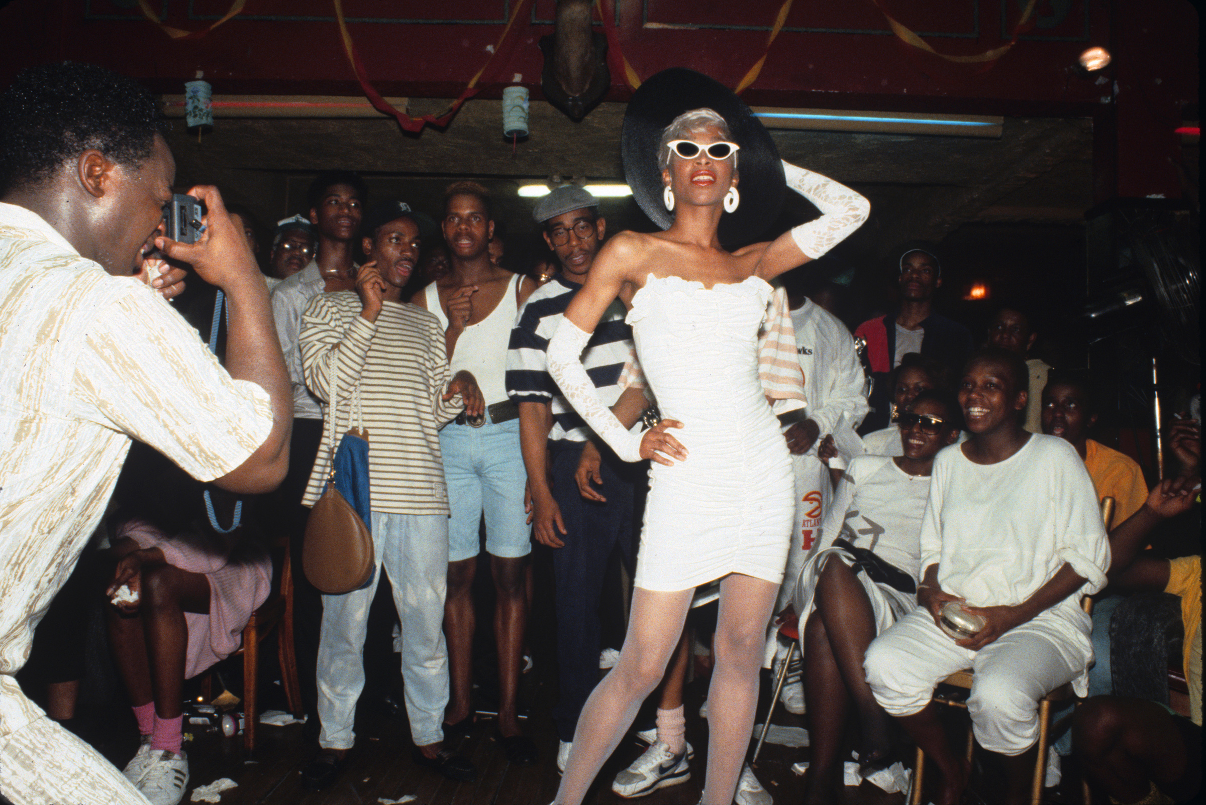 Octavia St. Laurent attends a Drag Ball in New York in 1988.