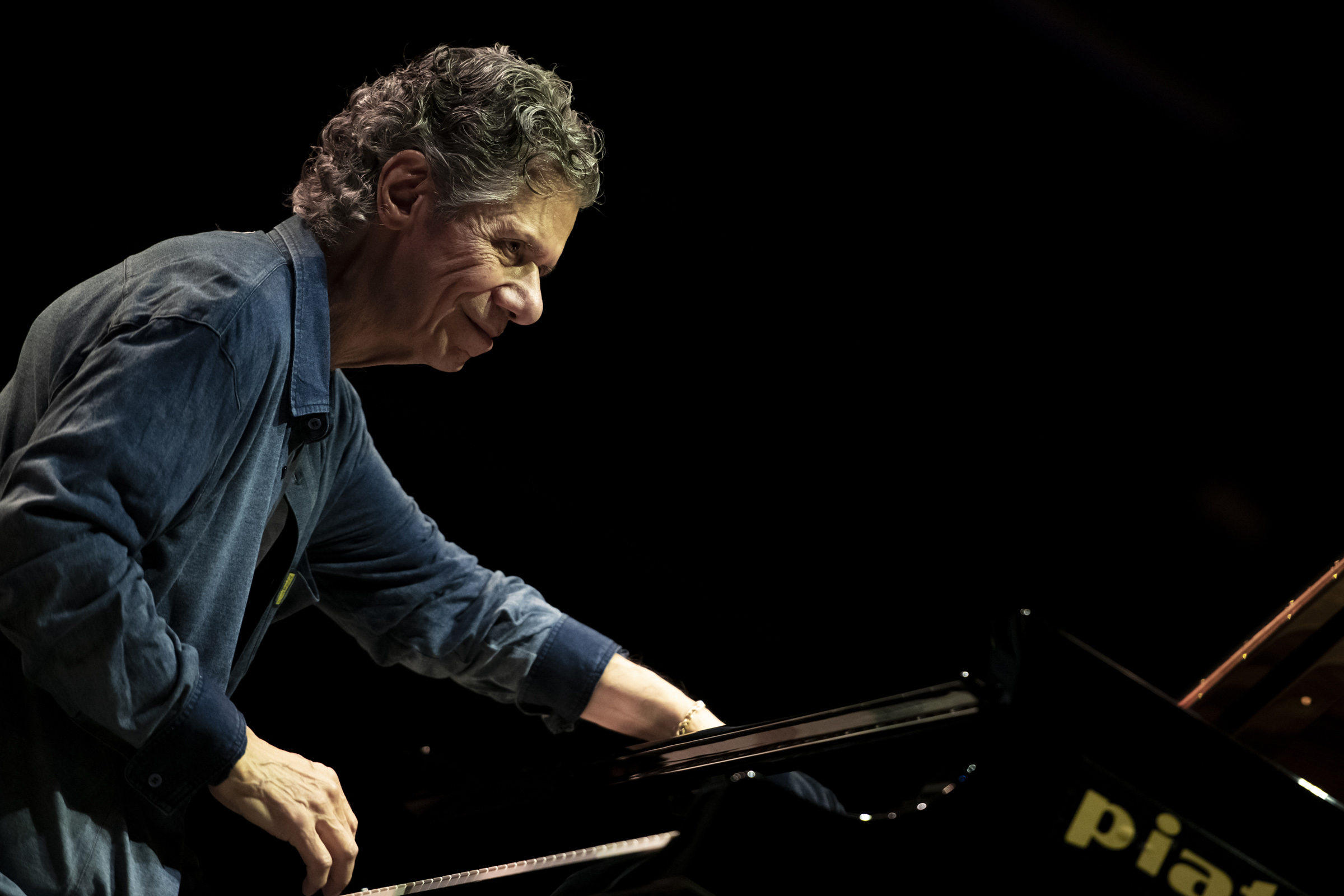 American piano player Chick Corea performs live during OGR Jazz Club  in Turin, Italy on Nov. 9, 2018.