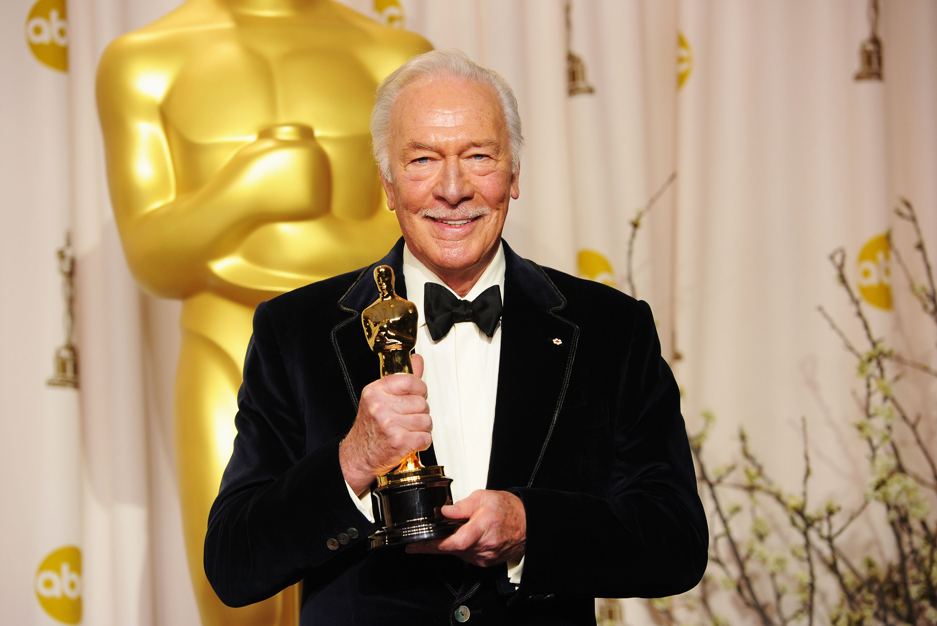 HOLLYWOOD, CA - FEBRUARY 26:  Actor  Christopher Plummer, winner of the Best Supporting Actor Award for 'Beginners,' poses in the press room at the 84th Annual Academy Awards held at the Hollywood & Highland Center on February 26, 2012 in Hollywood, California.  (Photo by Jason Merritt/Getty Images)