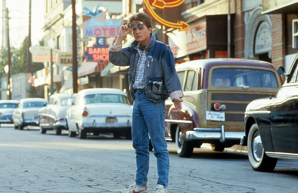 Michael J Fox in the film 'Back To The Future', 1985. (Photo by Universal/Getty Images)