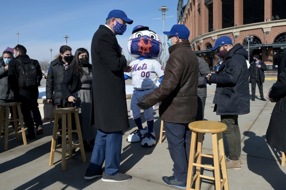 NY: Mets Citi Field Opens As COVID-19 Vaccine Mega Hub