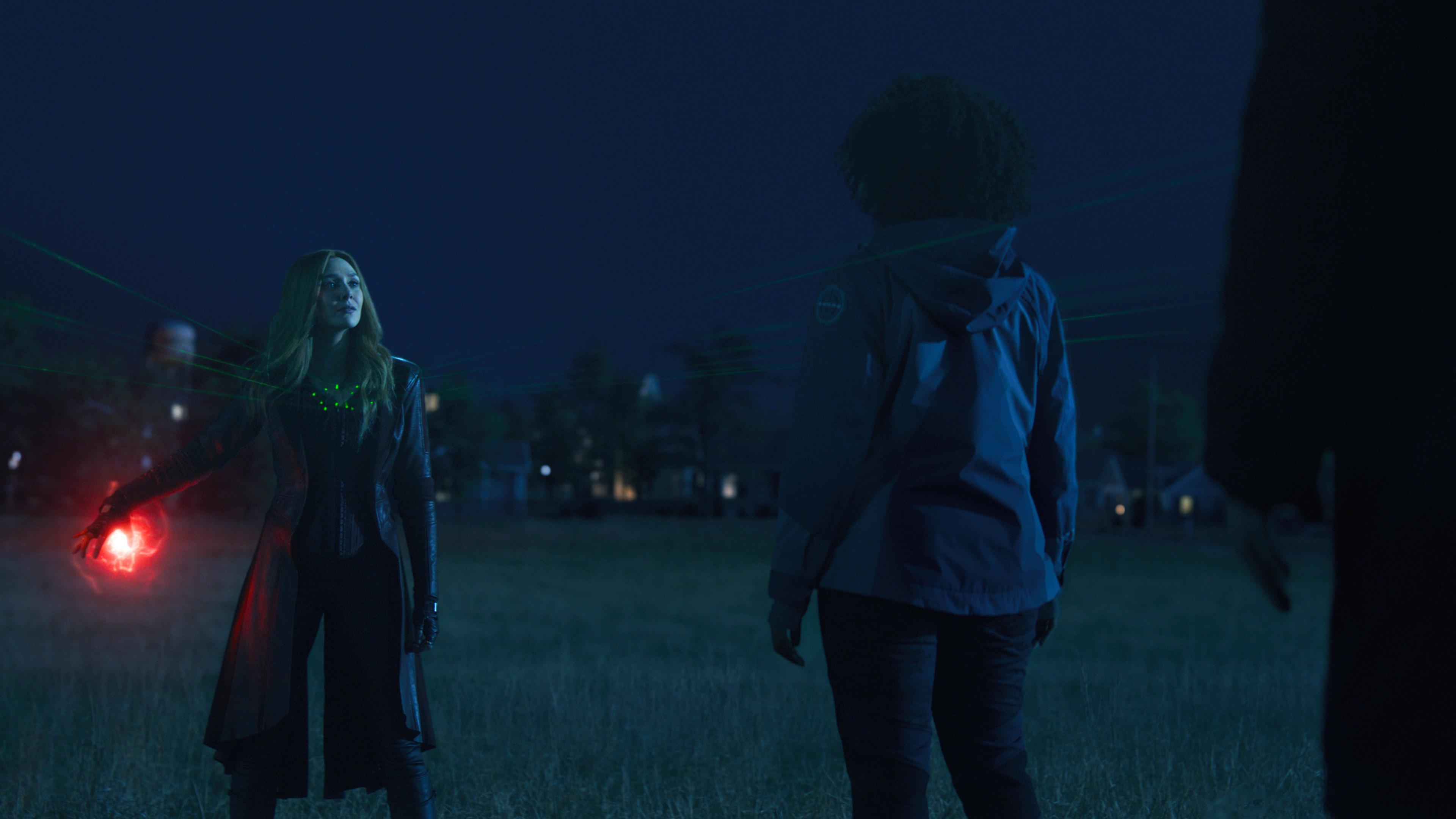 Elizabeth Olsen and Teyonah Parris in WandaVision