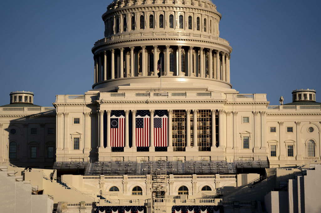The U.S. Capitol in Washington, D.C., U.S., on Thursday, Jan. 21, 2021. President Joe Biden is seeking to wipe away Donald Trump's fingerprints from U.S. policy, but his predecessor left lasting partisan divisions in Washington that pose a risk to getting the new presidents agenda through Congress.