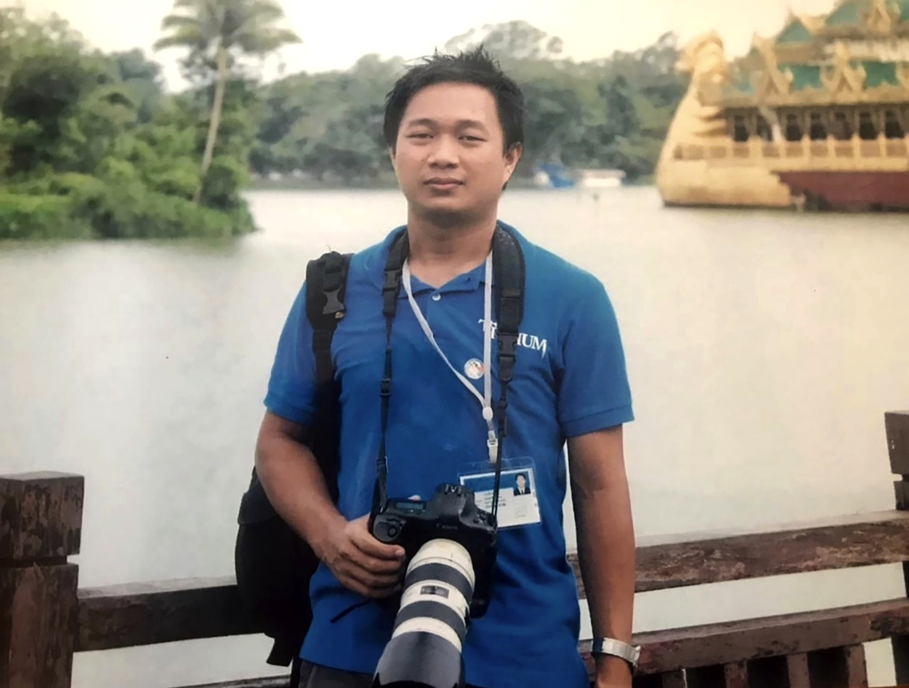This undated family photo provided on Wednesday, March 3, 2021 shows Associated Press journalist Thein Zaw in Yangon, Myanmar. Authorities in Myanmar charged Thein Zaw and five other members of the media with violating a public order law that could see them imprisoned for up to three years.