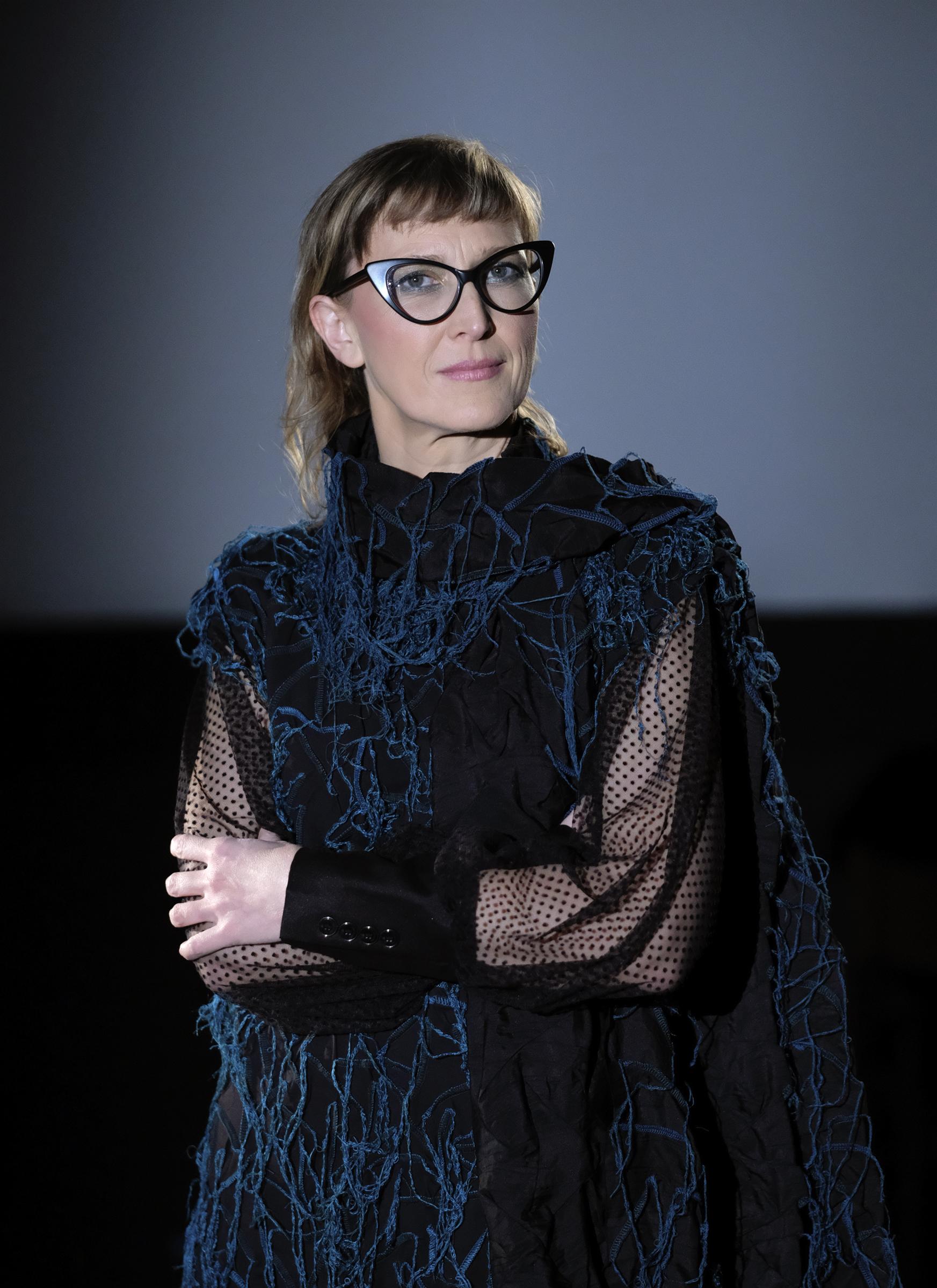Bosnian filmmaker Jasmila Zbanic poses during an interview in Sarajevo, Bosnia, on Jan. 30, 2021.