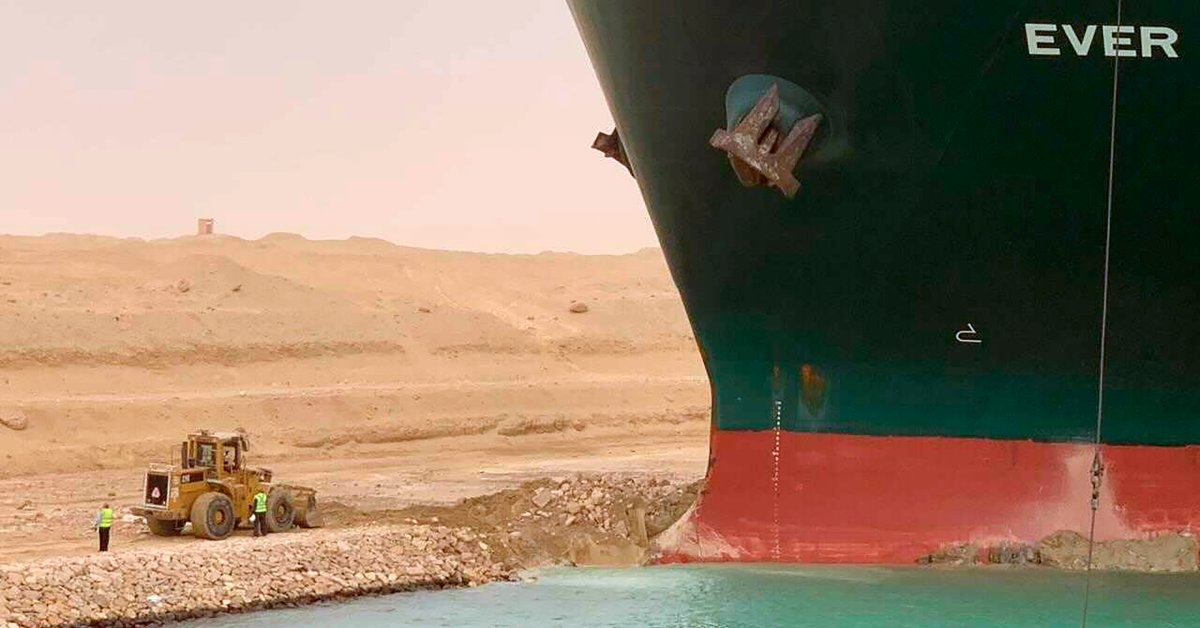 A Massive Cargo Ship Stuck in Egypt's Suez Canal Is Imperiling Shipping Worldwide