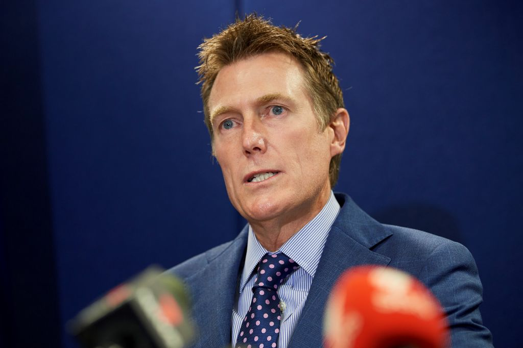 Australia's Attorney General Christian Porter speaks during a press conference in Perth on March 3, 2021, after he revealed he was the unnamed cabinet minister accused of raping a 16-year-old girl in 1988. He denied the allegations.