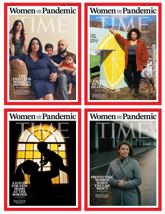 Women and the Pandemic Time Magazine covers