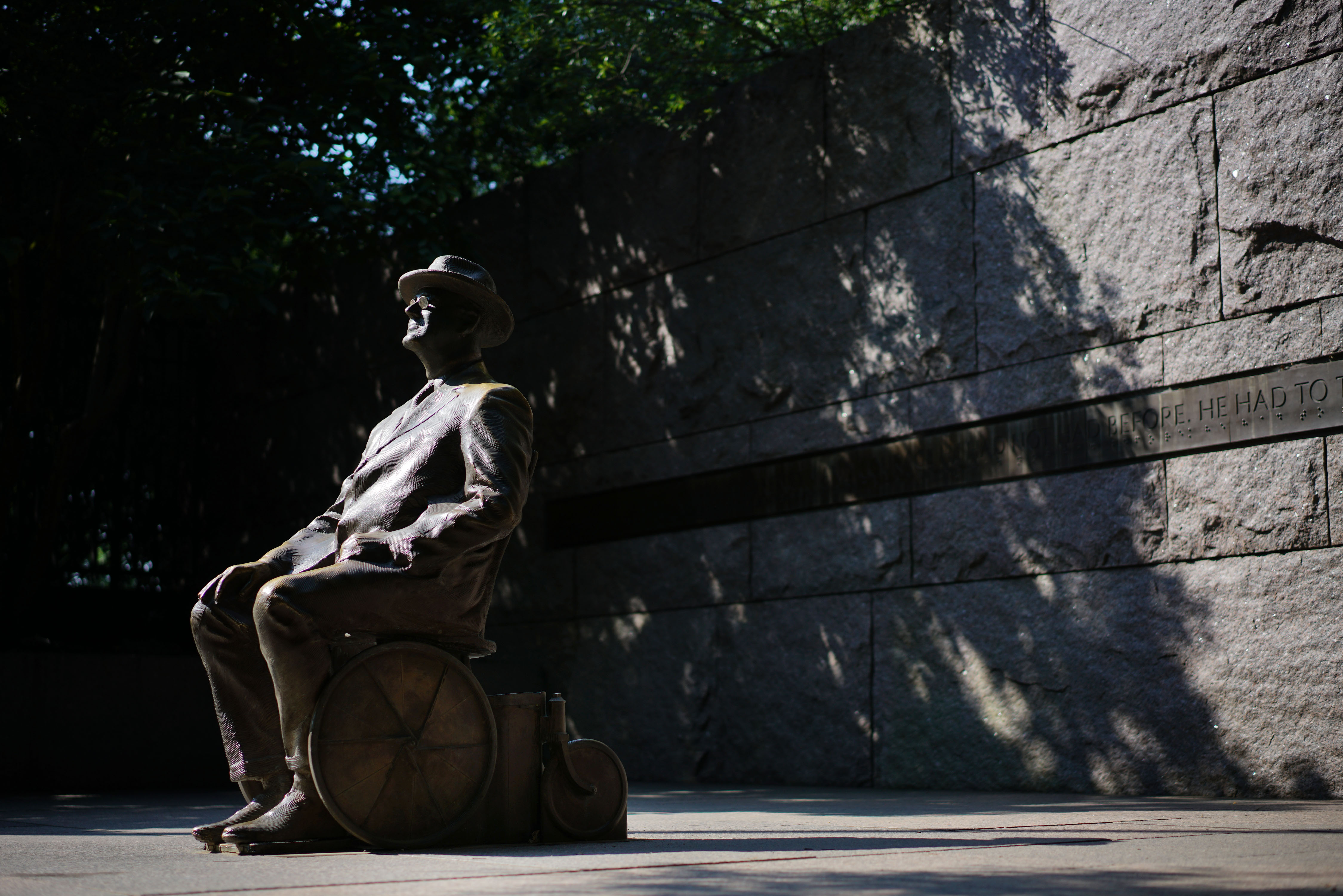 A statue of former US president Franklin Delano Roosevelt is seen at the Franklin Delano Roosevelt Memorial in Washington, D.C. on July 2, 2018.
