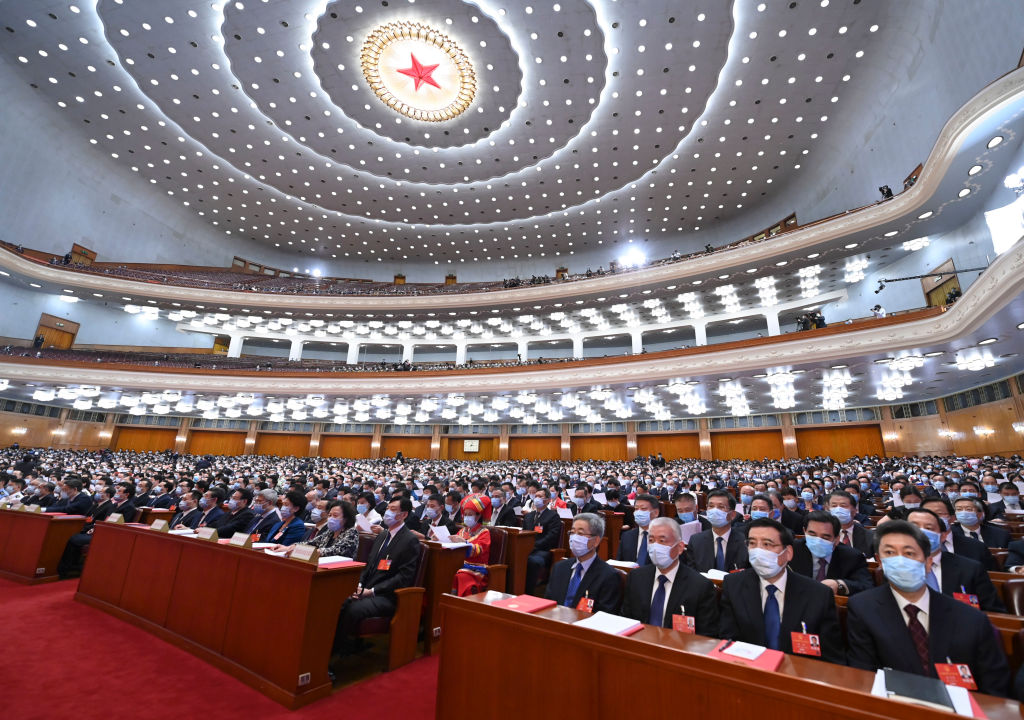 The closing meeting of the third session of the 13th National People's Congress is held at the Great Hall of the People in Beijing, capital of China, May 28, 2020.