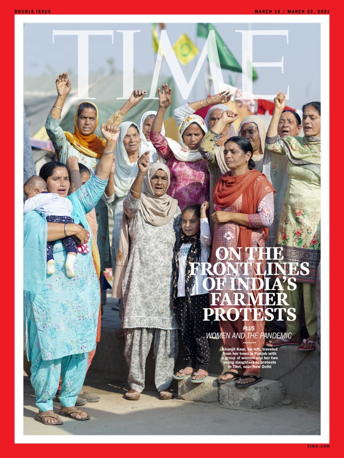 India's Farmers' protest Time Magazine Asia and SoPac cover 210315