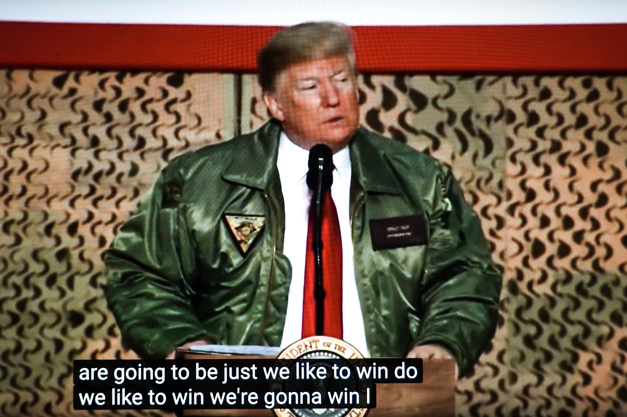 President Donald Trump on his first visit to Iraq in 2018.