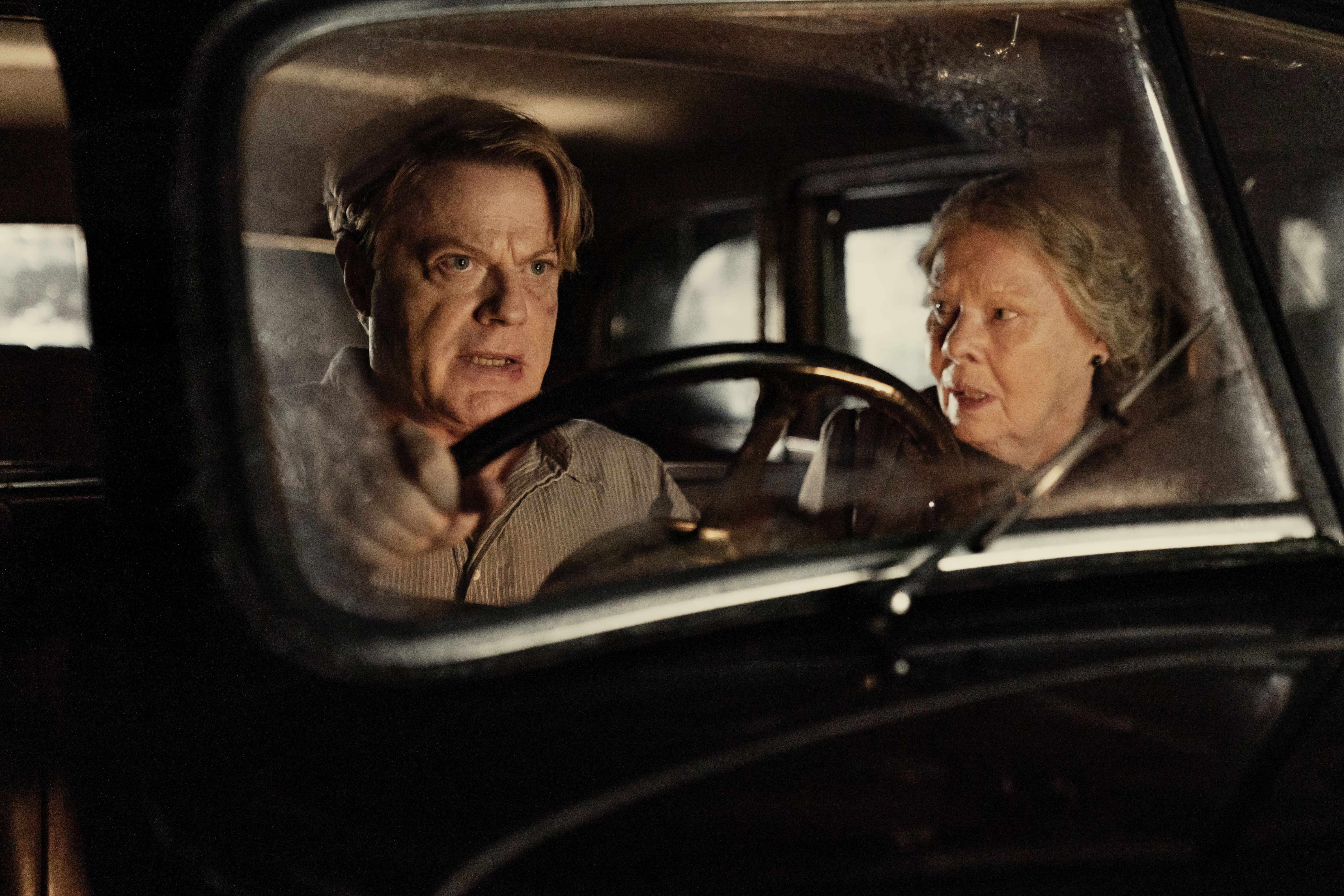 Eddie Izzard and Judi Dench in 'Six Minutes to Midnight'