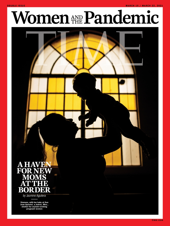 Women and the Pandemic Border Time Magazine cover