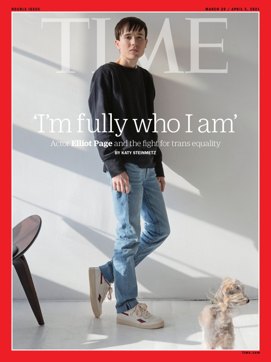 Elliot Page Trans Equality Time Magazine cover