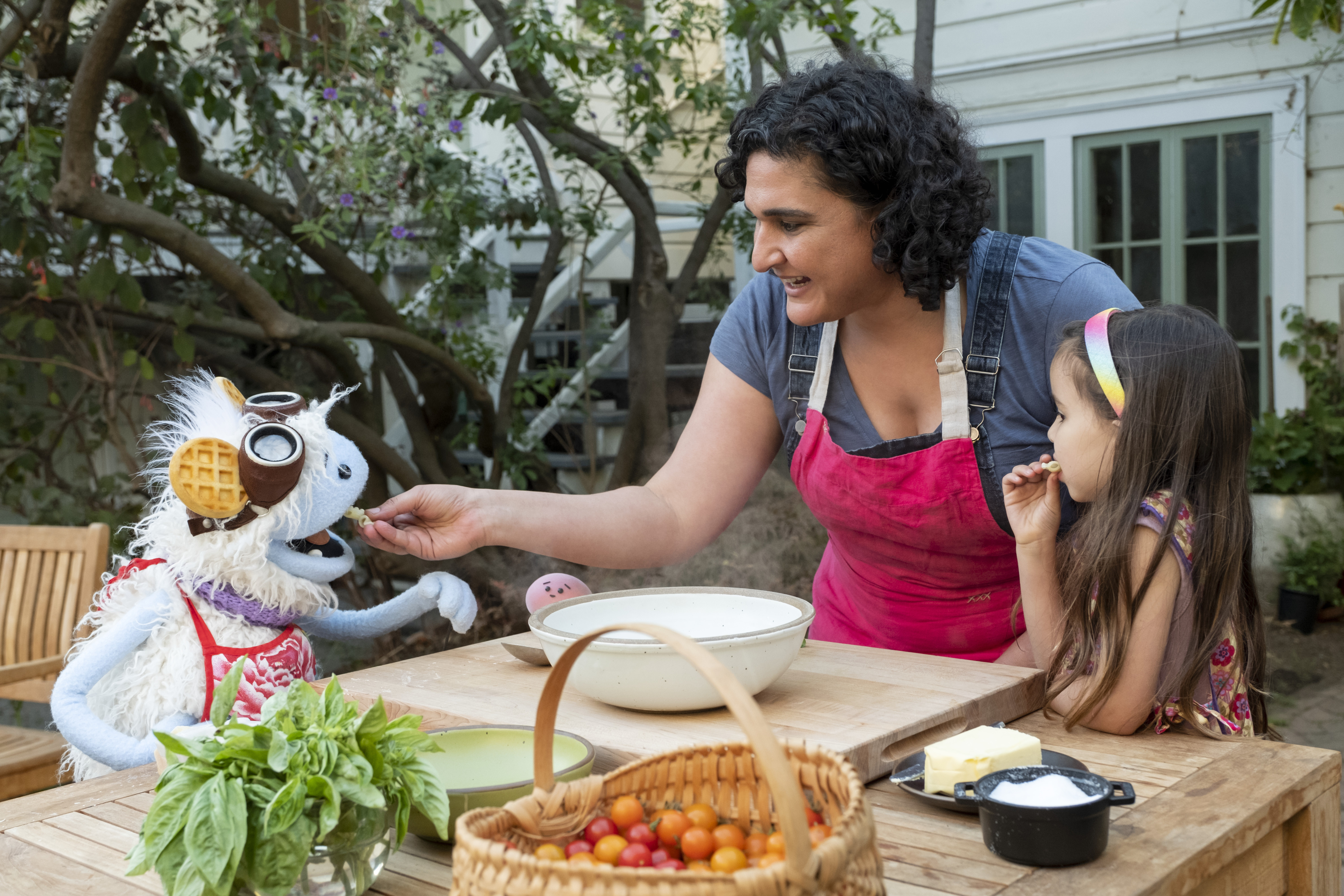 Waffles and Mochi cook with Samin Nosrat