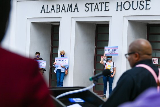 Transgender Rights Advocates Rally Against Alabama Legislation