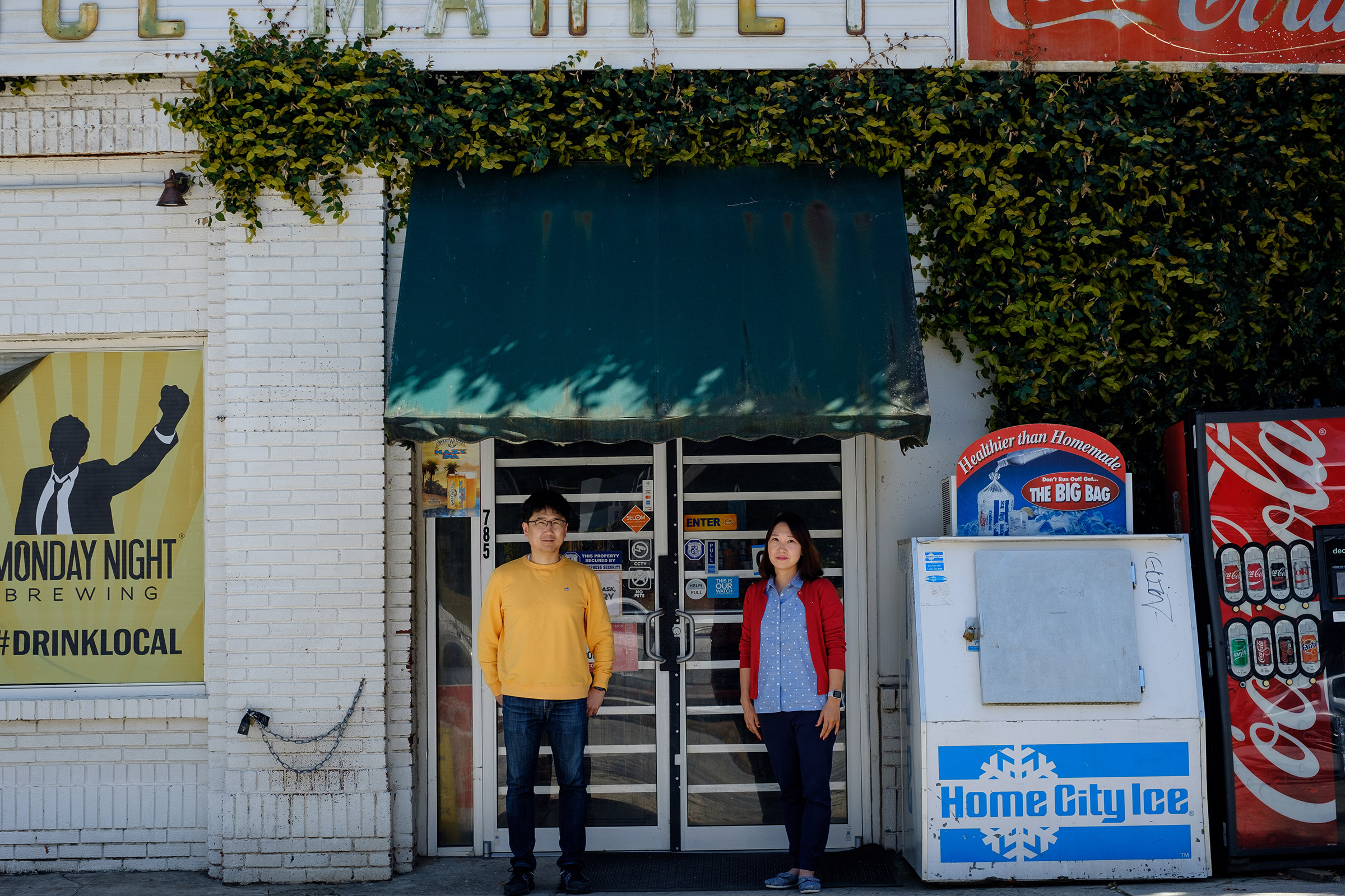 """""""Asians are being affected by the pandemic itself and on top of that they're also being blamed for the cause of the pandemic and it's very unfortunate,"""" Sunghee Kim, pictured here with husband Jun Kim, says."""