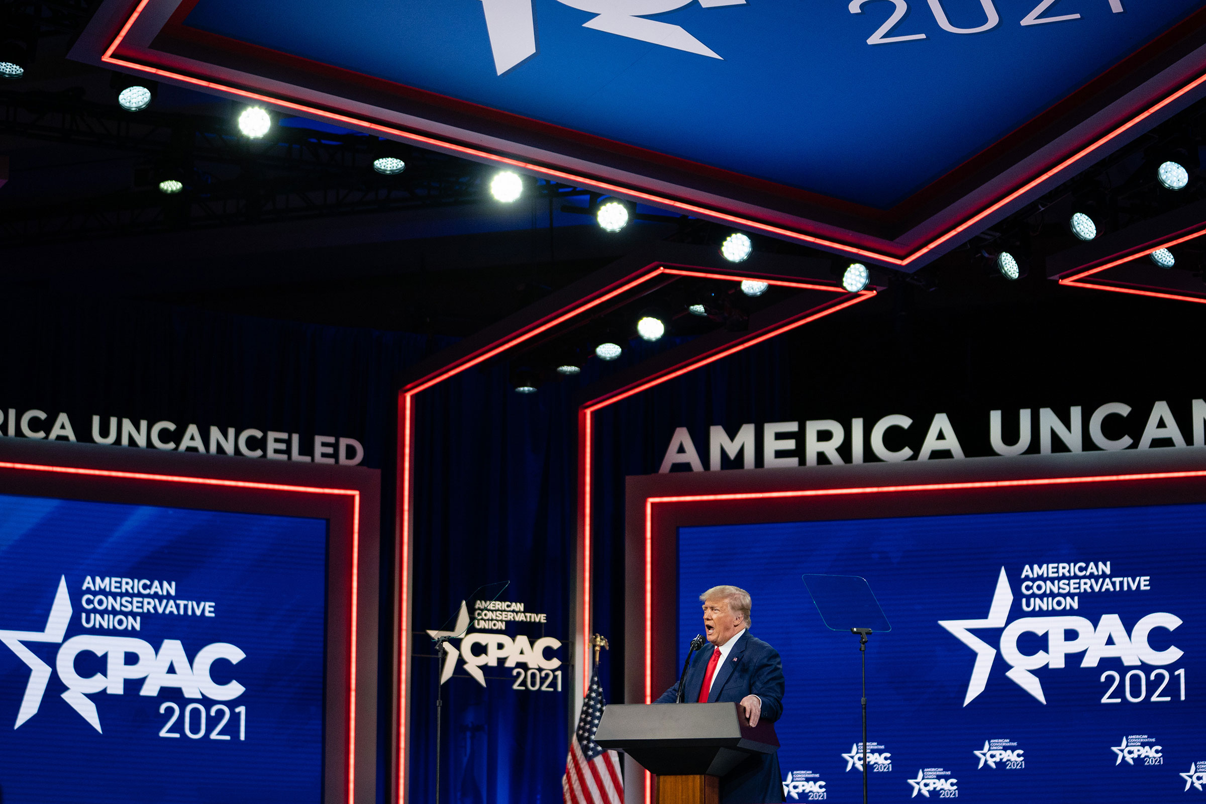 Former President Donald Trump speaks during the Conservative Political Action Conference in Orlando on Feb. 28, 2021.