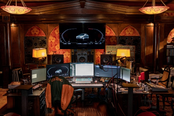 Composer Hans Zimmer's Los Angeles studio, in June 2019