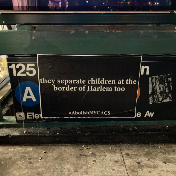 In December, parent activists in New York City began going out after dark to plaster up hundreds of posters that call out child protective services.