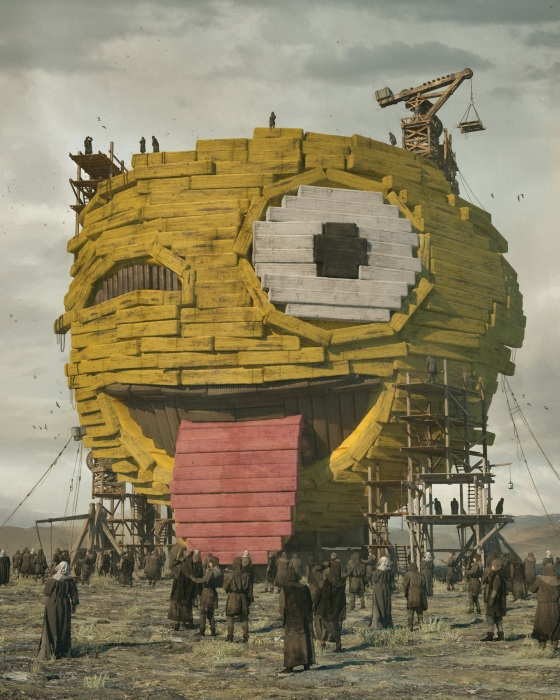 Beeple, The First Emoji. Part of the $69.3Â million Everydays.