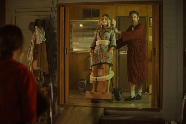 Herbert (Ray Romano) and his sex doll, Diane, in 'Made for Love'