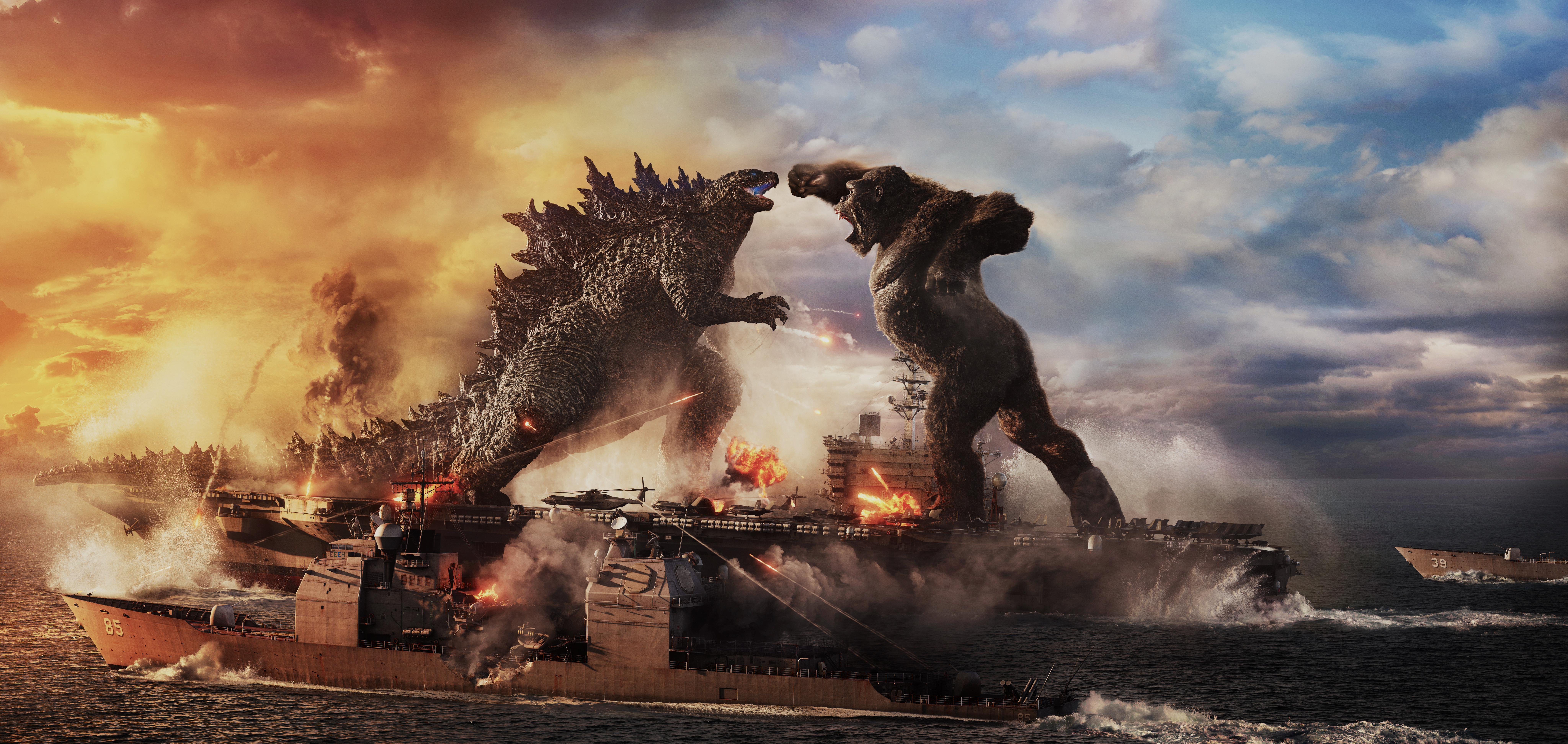 Godzilla battles Kong in the aptly titled 'Godzilla vs. Kong'