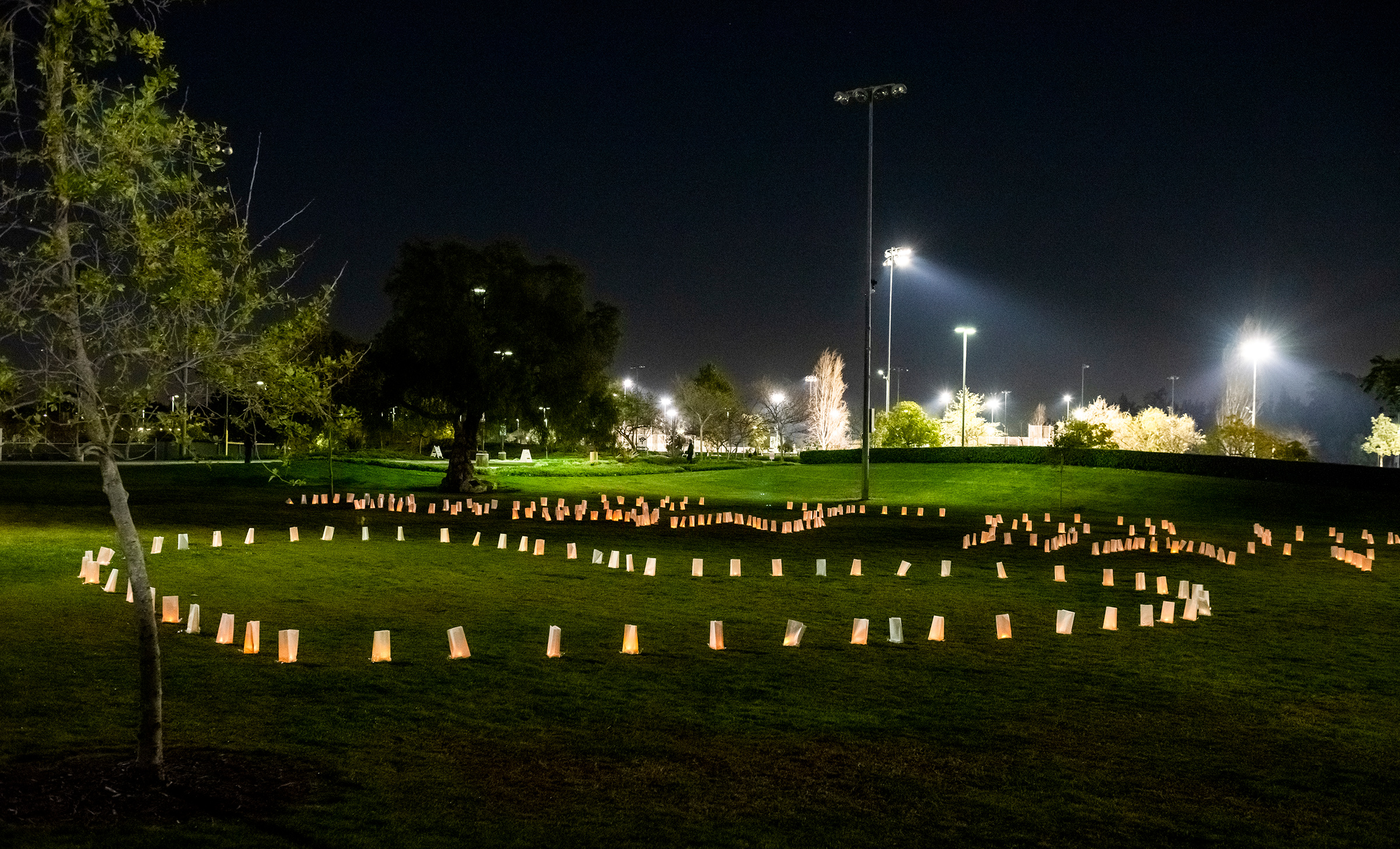 A March 4 candlelit memorial in Fountain Valley, Calif., pays tribute to victims of anti-Asian hate crimes amid the pandemic