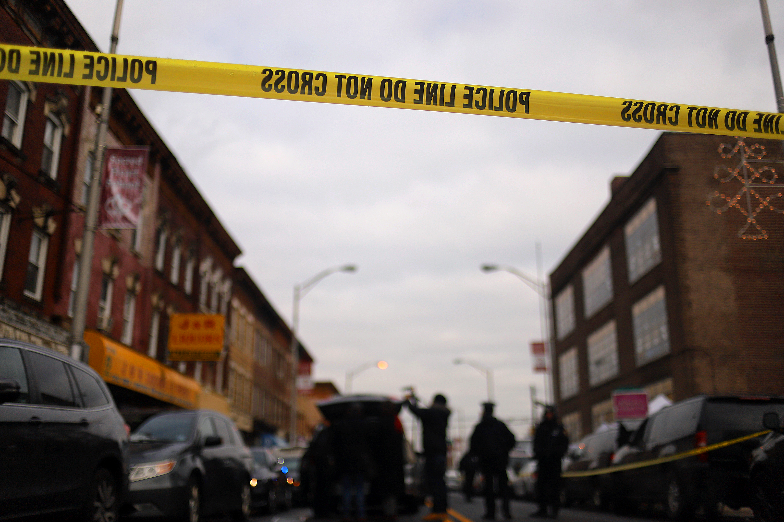 Recovery and clean up crews arrive to the JC Kosher Supermarket in the aftermath of a mass shooting on Dec. 11, 2019 in Jersey City, New Jersey.