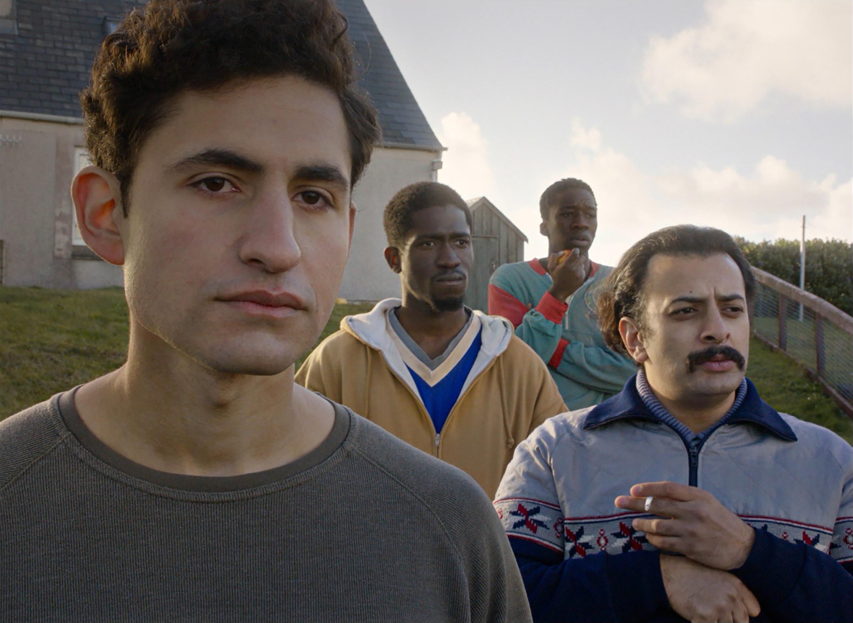 From left to right, Amir El-Masry, Ola Orebiyi, Kwabena Ansah and Vikash Bhai in 'Limbo'