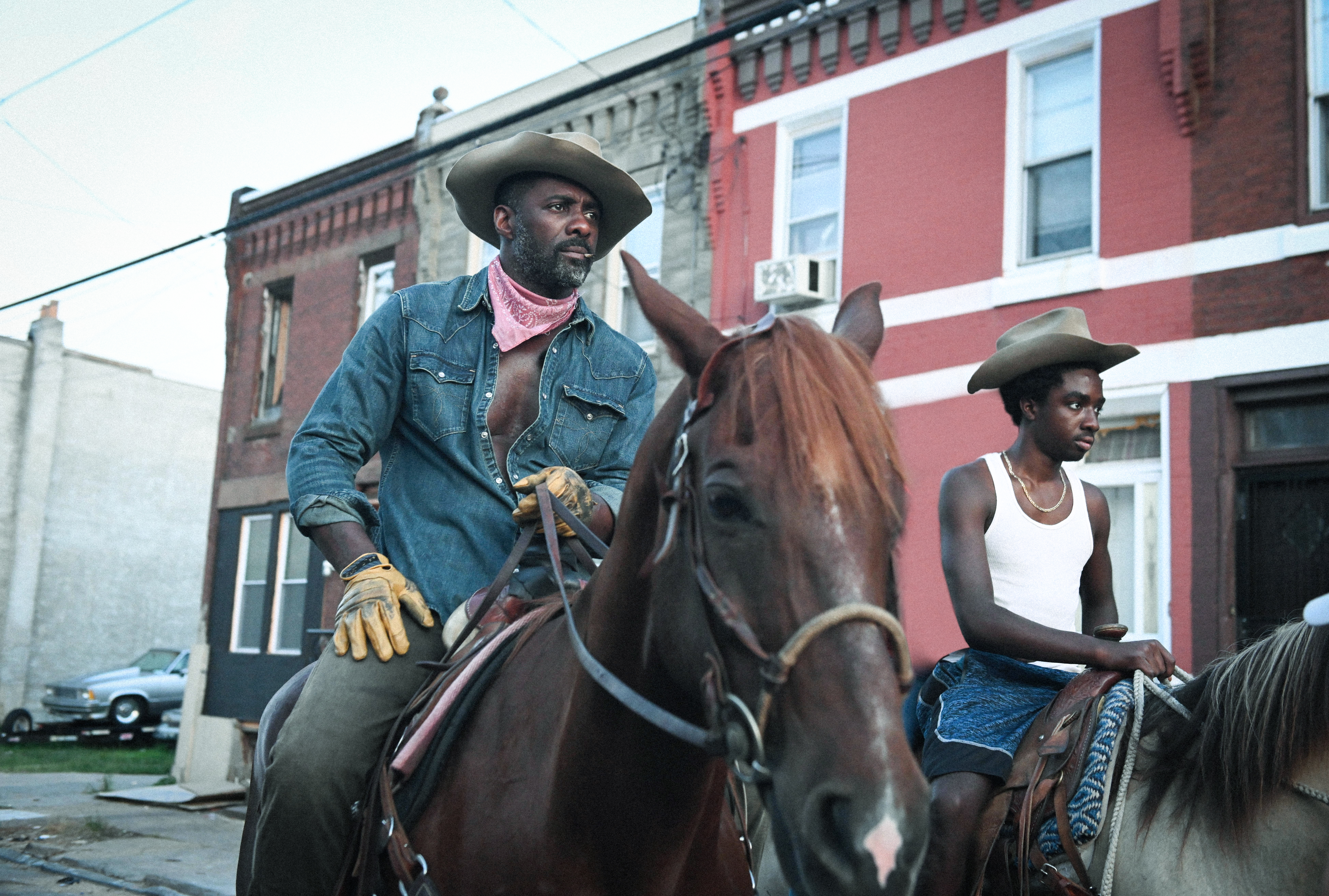 Idris Elba and Caleb McLaughlin in 'Concrete Cowboy'