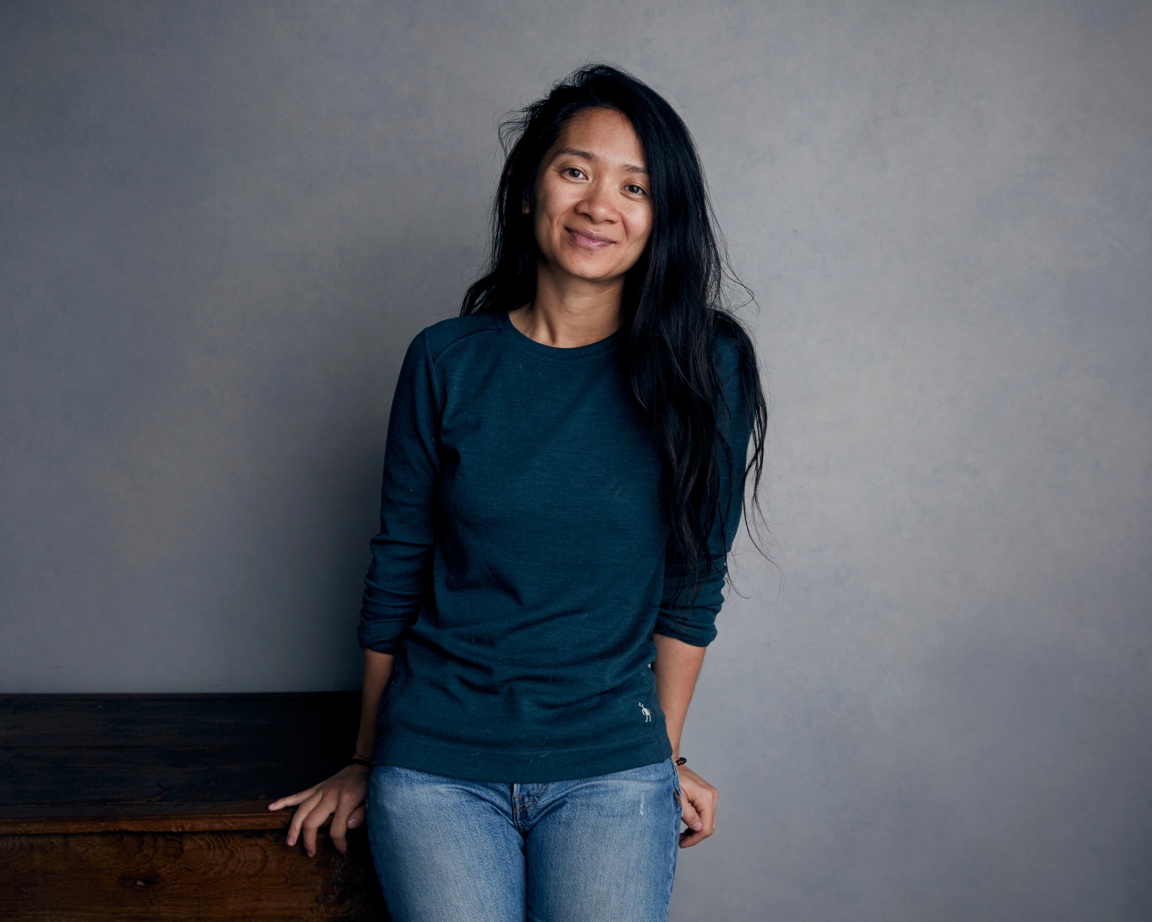 Chloe Zhao poses for a portrait to promote her film  Nomadland  during the Sundance Film Festival in Park City, Utah, on Jan. 22, 2018.