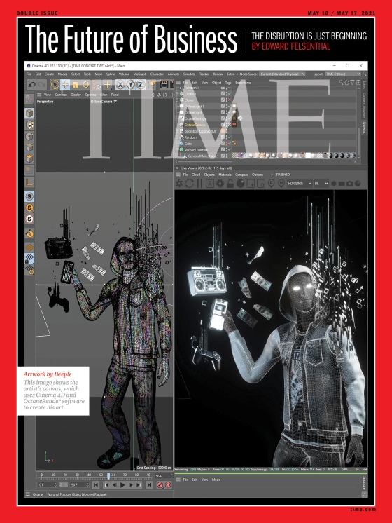 The Story Behind TIME and Beeple's Future of Business Cover