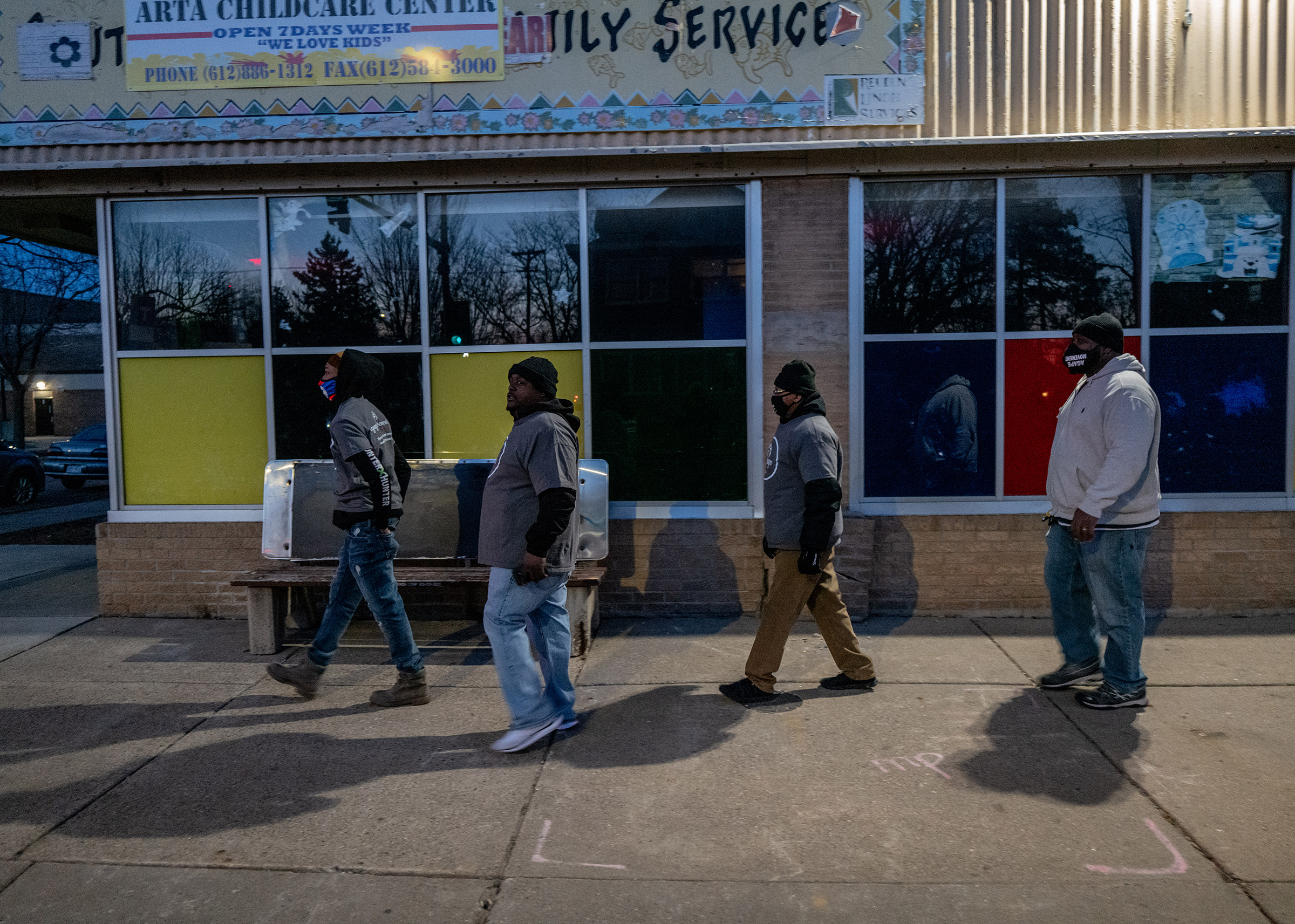 Members of Agape walk the streets to stay familiar with community members and keep abreast of issues in the community.