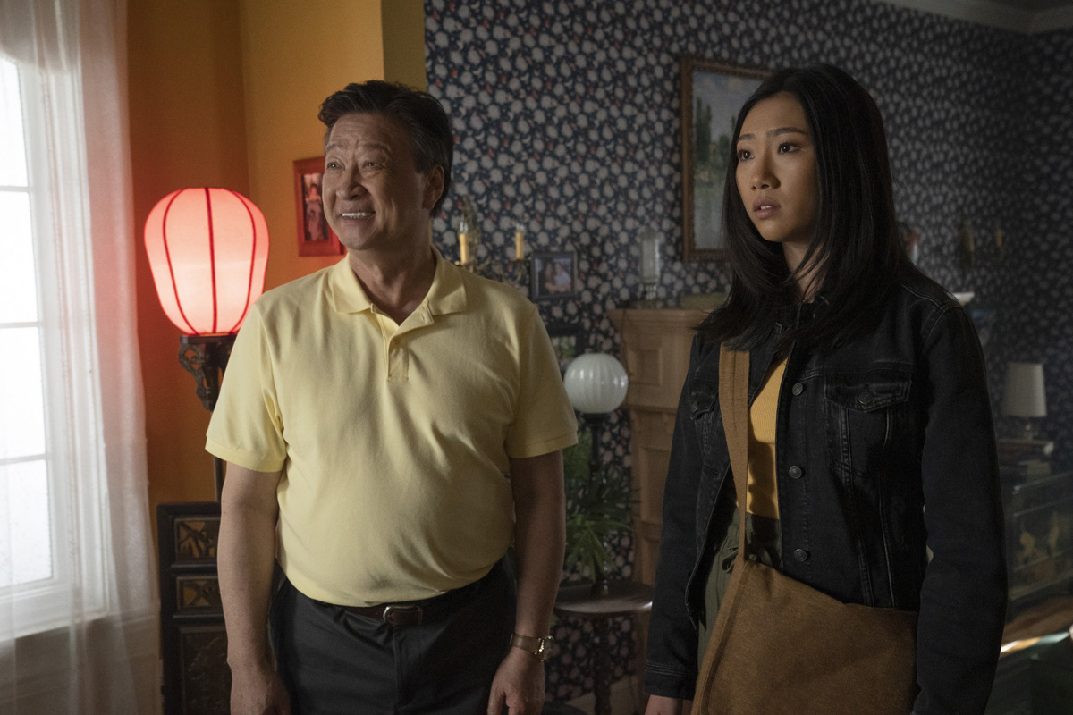 Kung Fu --  Pilot  -- Image Number: KF101b_0252r.jpg -- Pictured (L-R): Tzi Ma as Jin Shen and Olivia Liang as Nicky Shen -- Photo: Katie Yu/The CW -- © 2021 The CW Network, LLC. All Rights Reserved
