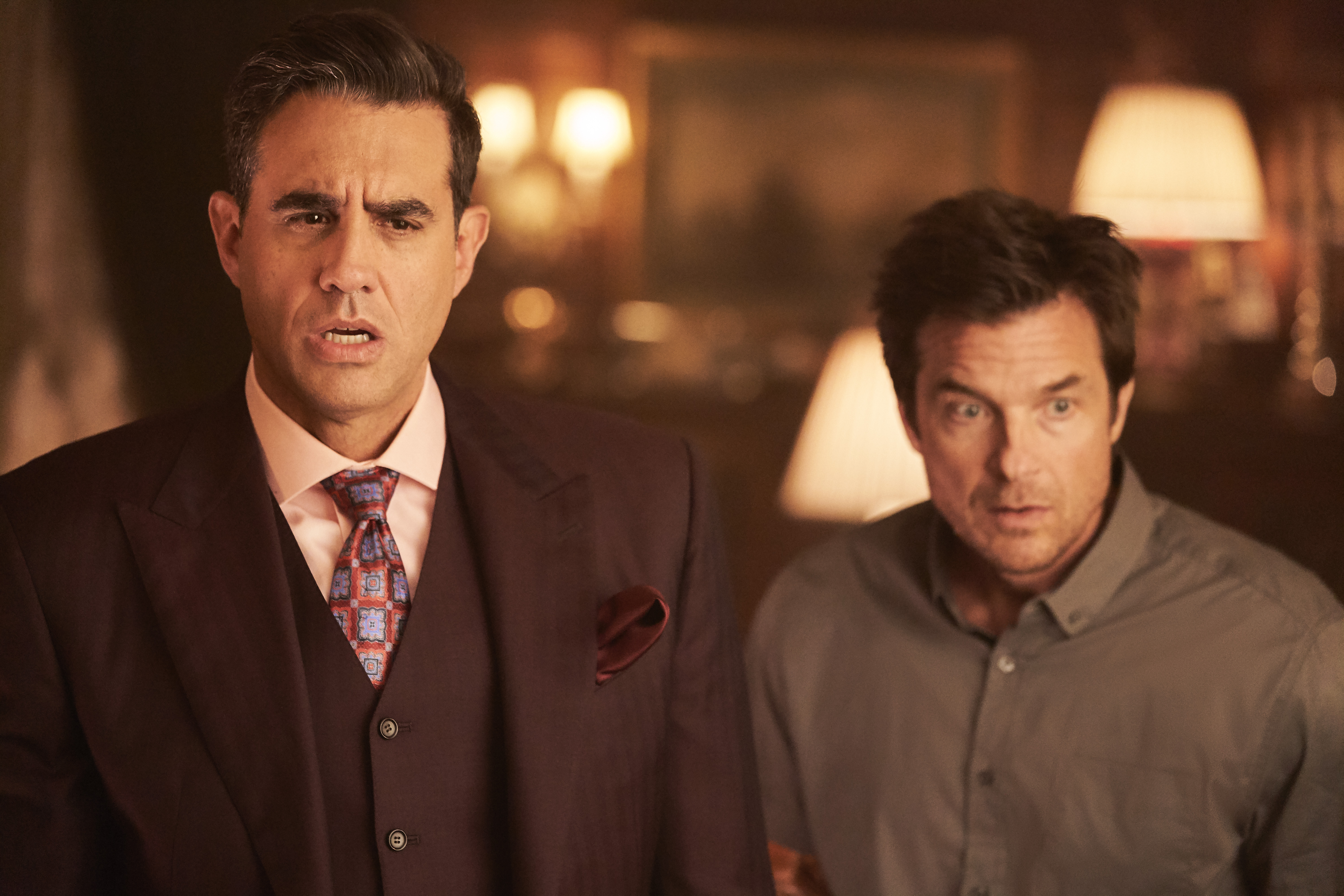 Bobby Cannavale and Jason Bateman as the baddies