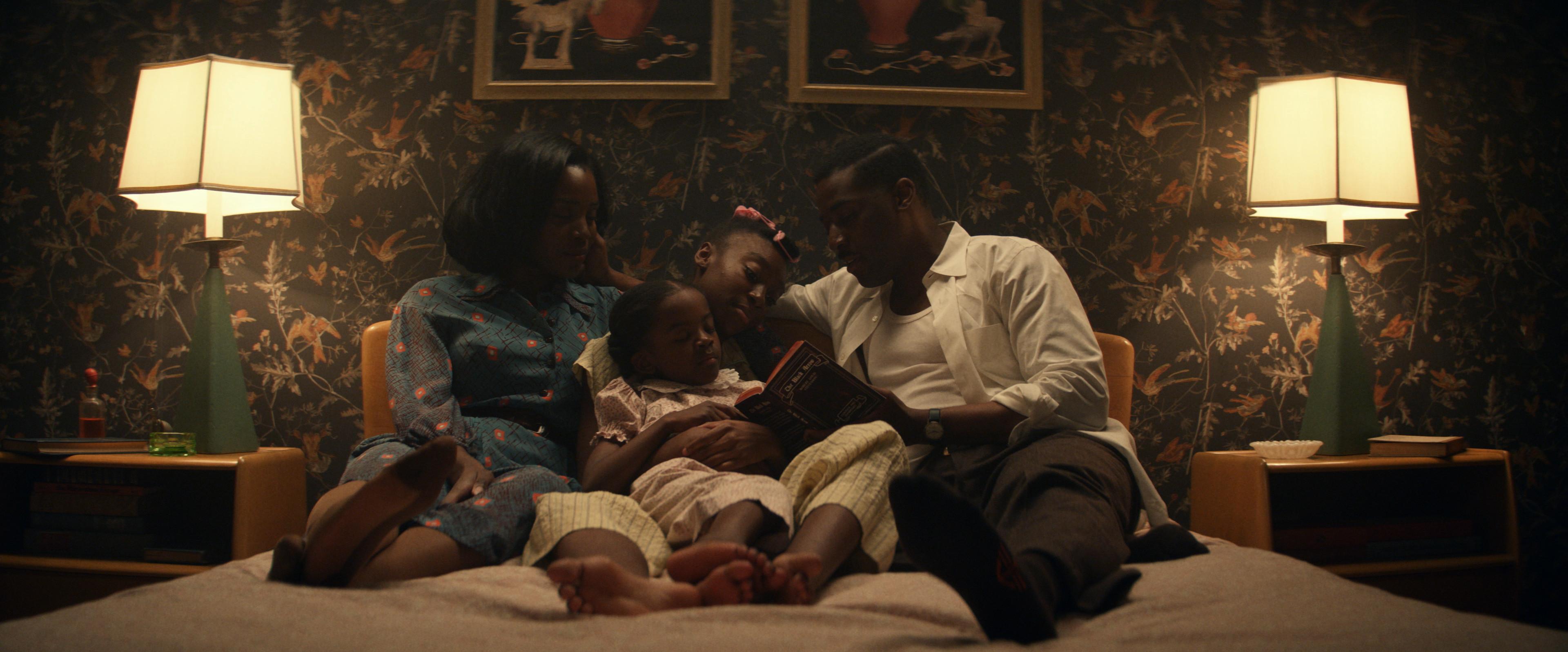 'THEM': (l-r) Deborah Ayorinde as Livia 'Lucky' Emory, Melody Hurd as Gracie Jean Emory, Shahadi Wright Joseph as Ruby Lee Emory and Ashley Thomas as Henry Emory