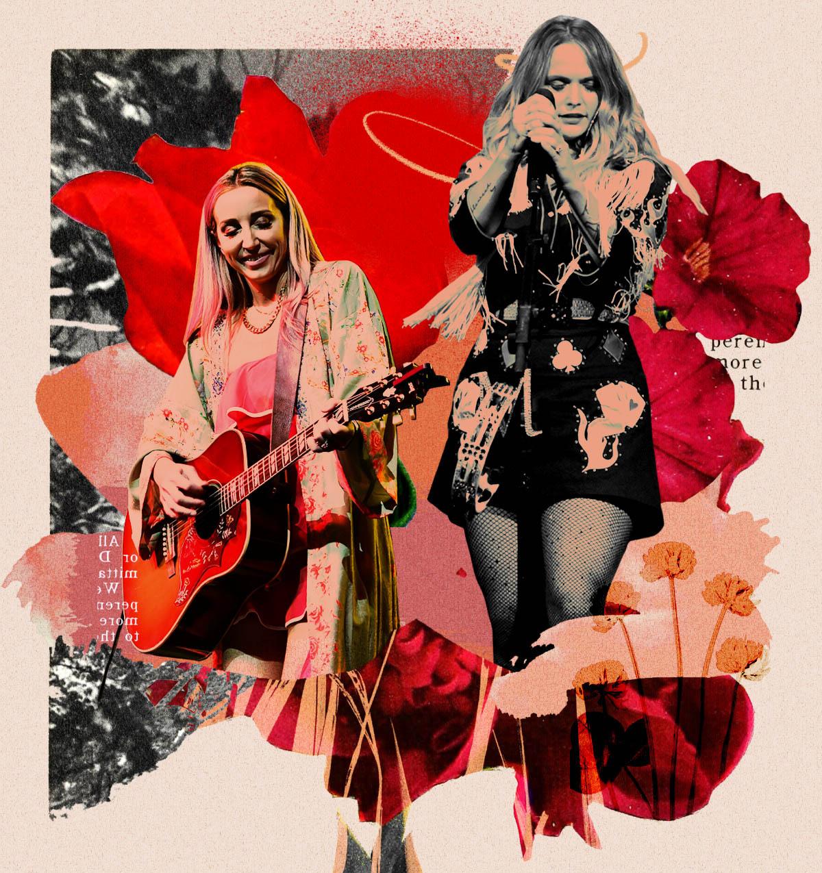 Ashley Monroe, left, and Miranda Lambert have released new albums