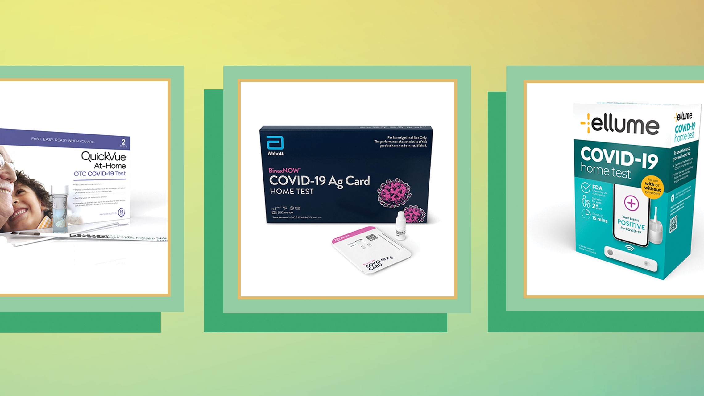 At-home over-the-counter COVID-19 tests will be available at retail stores without a prescription.