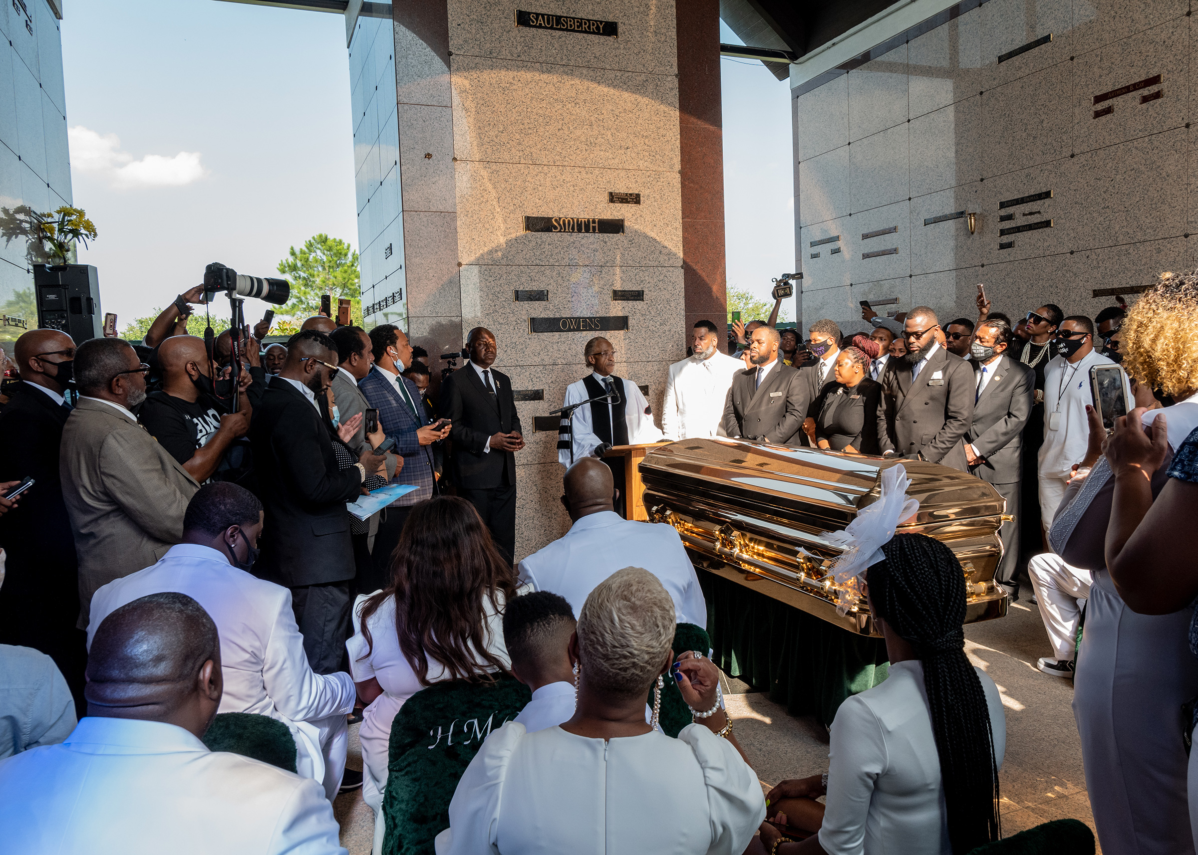 Rev. Al Sharpton speaks at the private funeral service for George Floyd onJune 9, 2020.