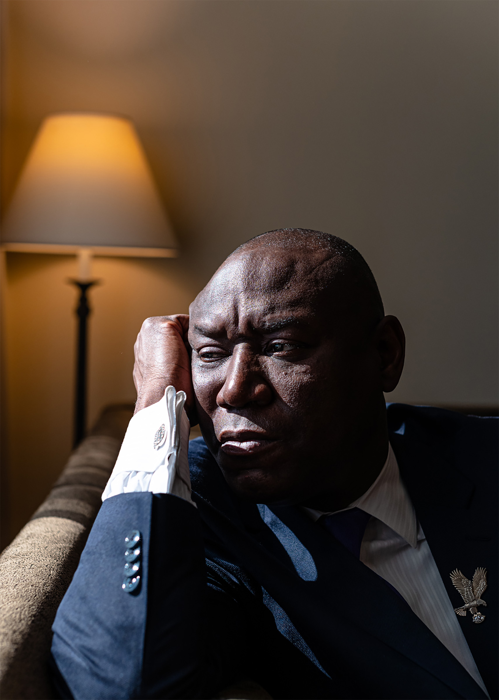"""""""Justice for George would be that the police officers who tortured him to death be held fully accountable to the full extent of the law,"""" said attorney Ben Crump on June 7, 2020, at a Houston hotel, while waiting for George Floyd's extended family to arrive for his funeral."""