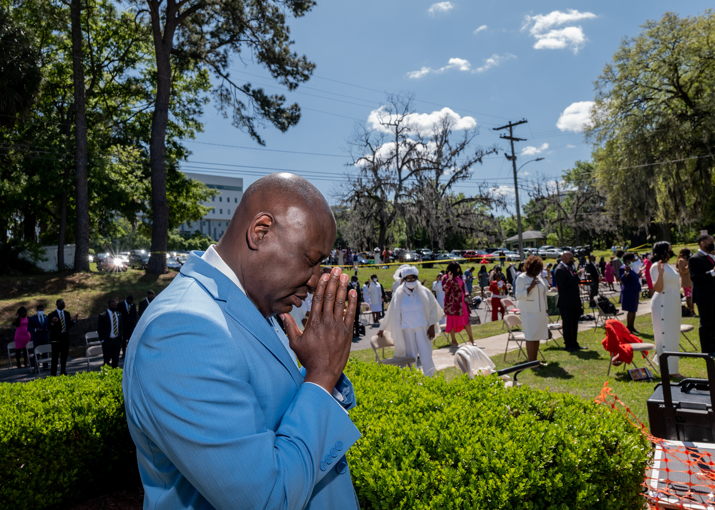 Crump attends Easter Sunday Mass at Bethel Missionary Baptist Church in Tallahassee, Fla., on April 4.