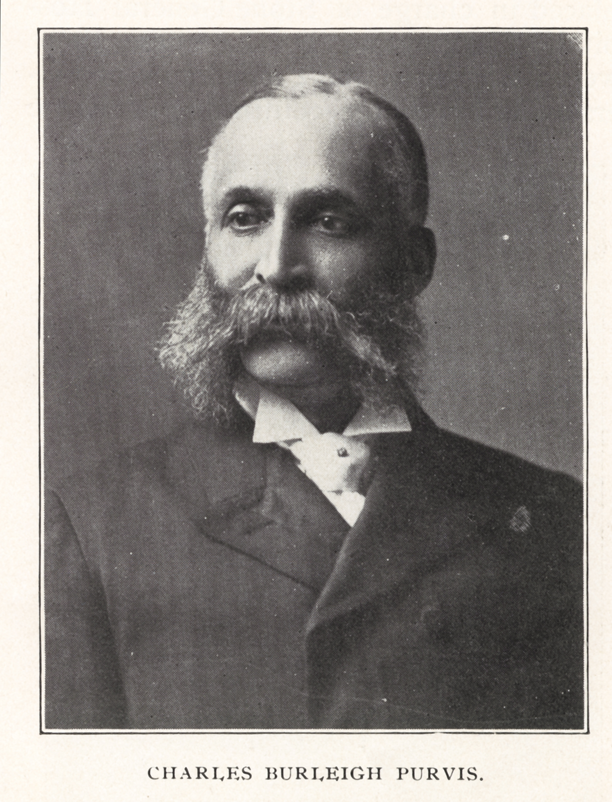 Portrait of Charles Burleigh Purvis, MD, ca. 1900.