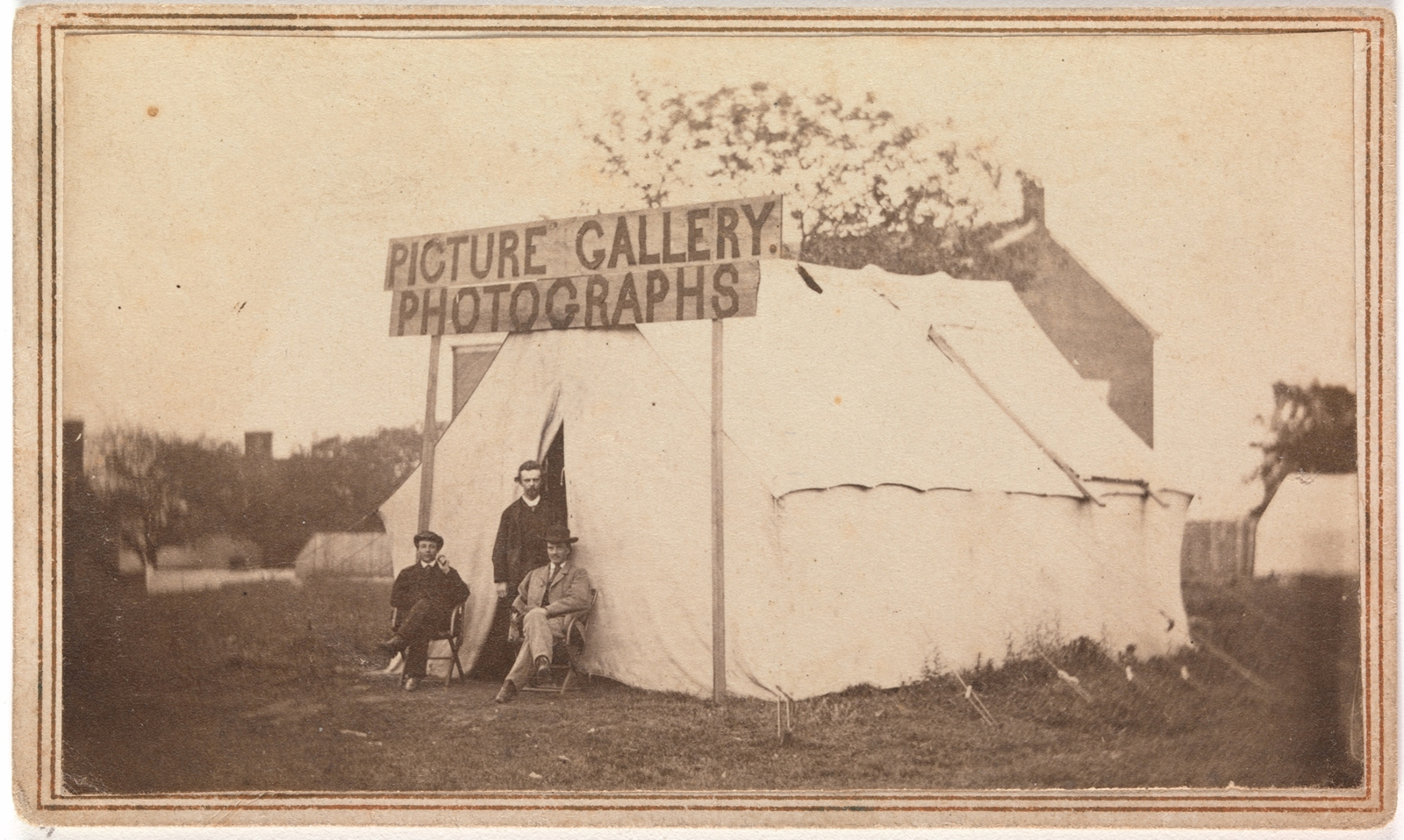 Picture gallery photographs, 1860s.